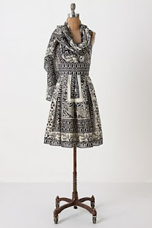 Anna Sui pattern dress, Anthropologie