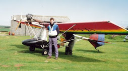 A trial flight in a Thruster, when I was 28, c.1991