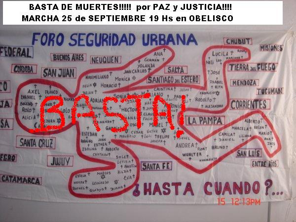 MARCHA POR  PAZ Y JUSTICIA!!!25 DE SEPTIEMBRE A 19 HS EN OBELISCO