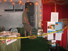 Bill in the Sawdust booth at Gay Days