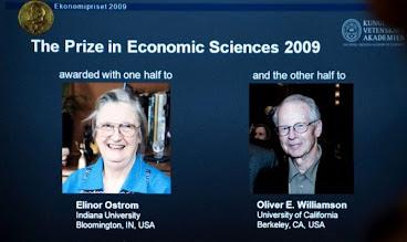 Dos norteamericanos ganan el Nobel de Economía 2009