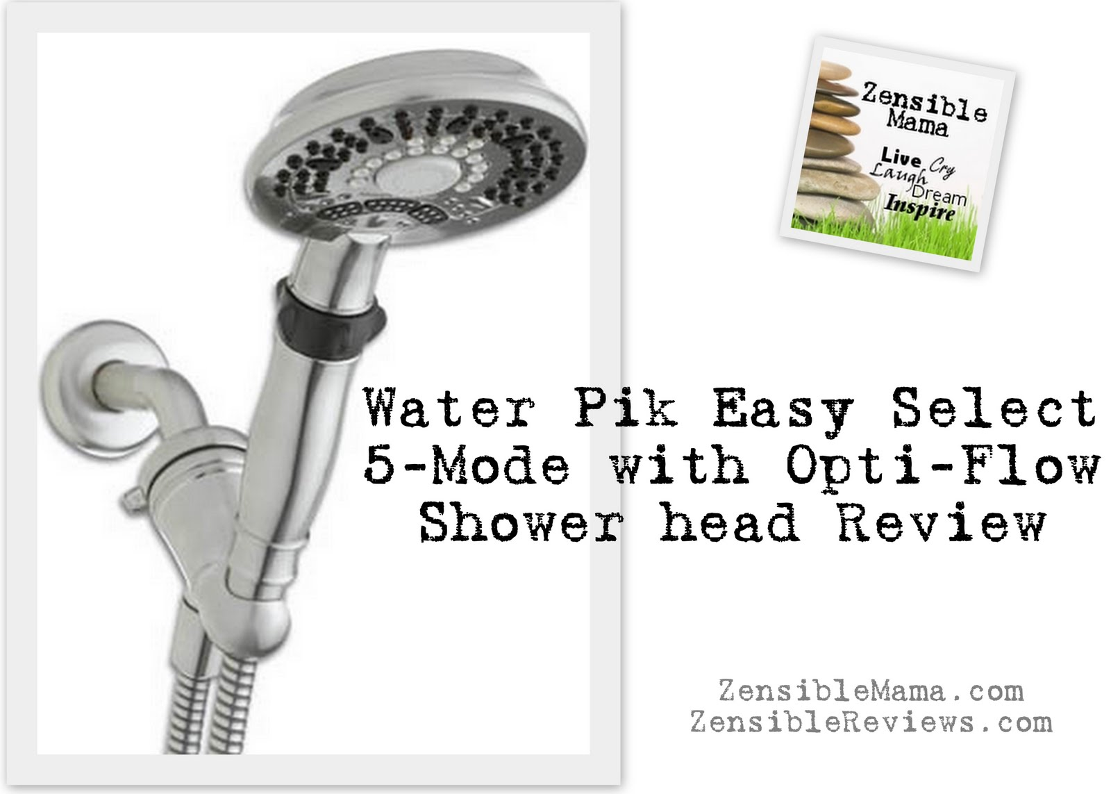 Zensible Mama: New Water Pik Easy Select with Opti-Flow Shower head ...