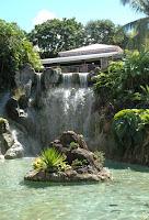 restaurant panoramique du jardin botannique de Deshaies, qui surplombe la cascade
