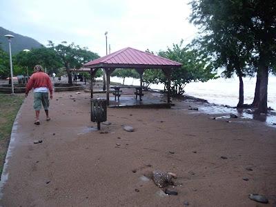 Gros nettoyage en perspective sur la plage Caraïbes