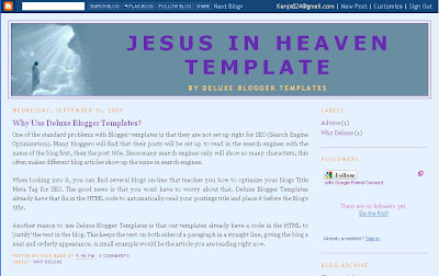 Deluxe Blogger Two Column Template