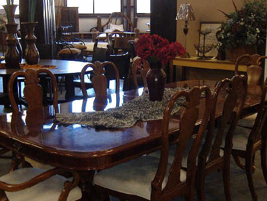 Consign of the times queen anne mahogany dining room for Queen anne dining room