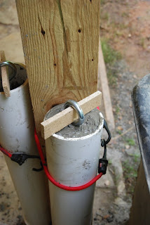Fill the rest of the pipe with wet cement up to the base of the eyebolt. With a large wet sponge clean off any spills or drips from the pipe before it ... & etsy metal: Tent Weights - a Tutorial