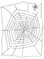 halloween spider web maze