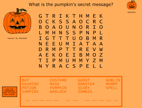 Halloween printable word searches for kids Keep Healthy Eating Simple