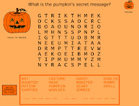 pumpkin word search for halloween