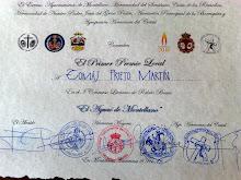 Diploma acreditativo como ganador del