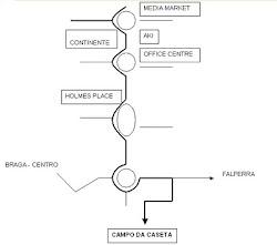 Mapa de acesso ao campo