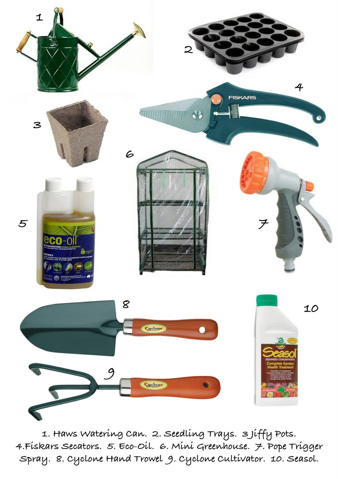 Gardening tools list for Horticulture tools list