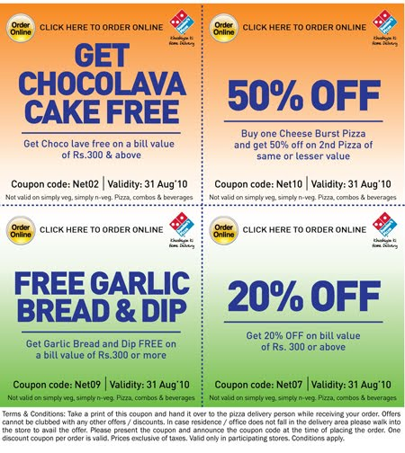Dominos printable coupons