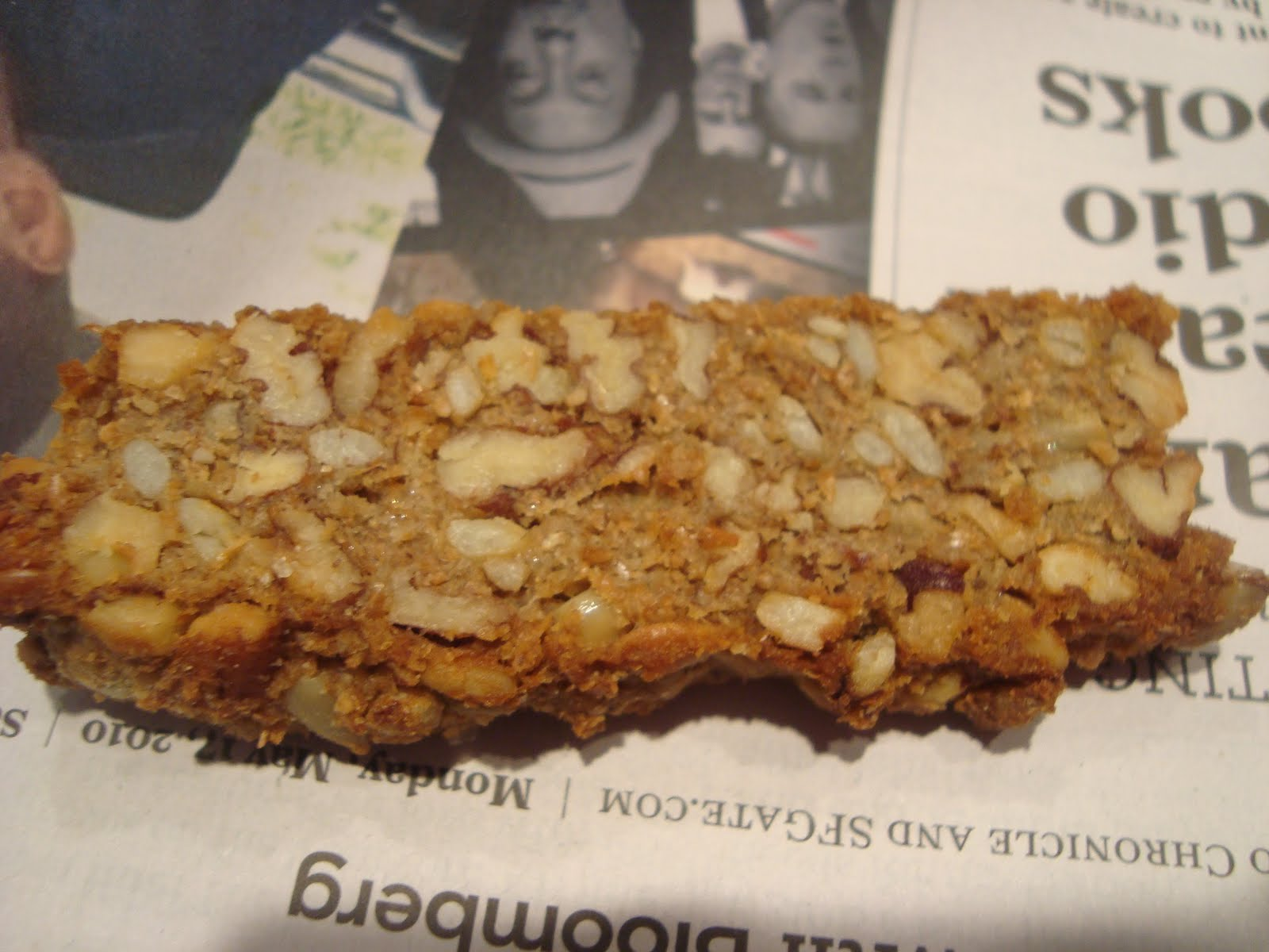 hungry like the wolf: pecan and sunflower seed biscotti