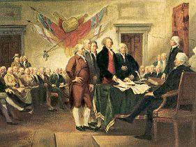 Declaração de independência dos Estados Unidos da América.