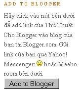 Thêm nút Add to Blogger