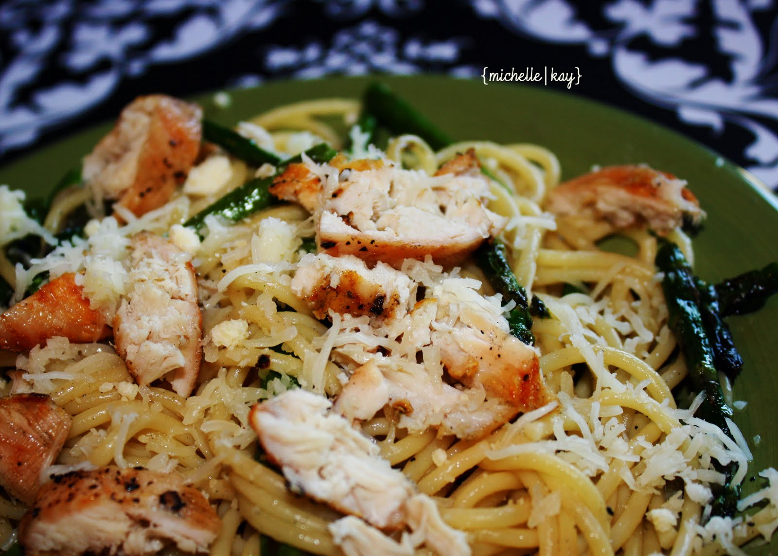 Just Playing with Food!: Grilled Chicken and Asparagus Pasta