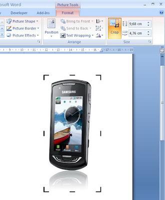 crop an image in microsoft word 2010