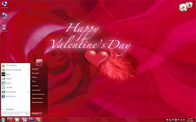 Valentine day rose themes for windows 7
