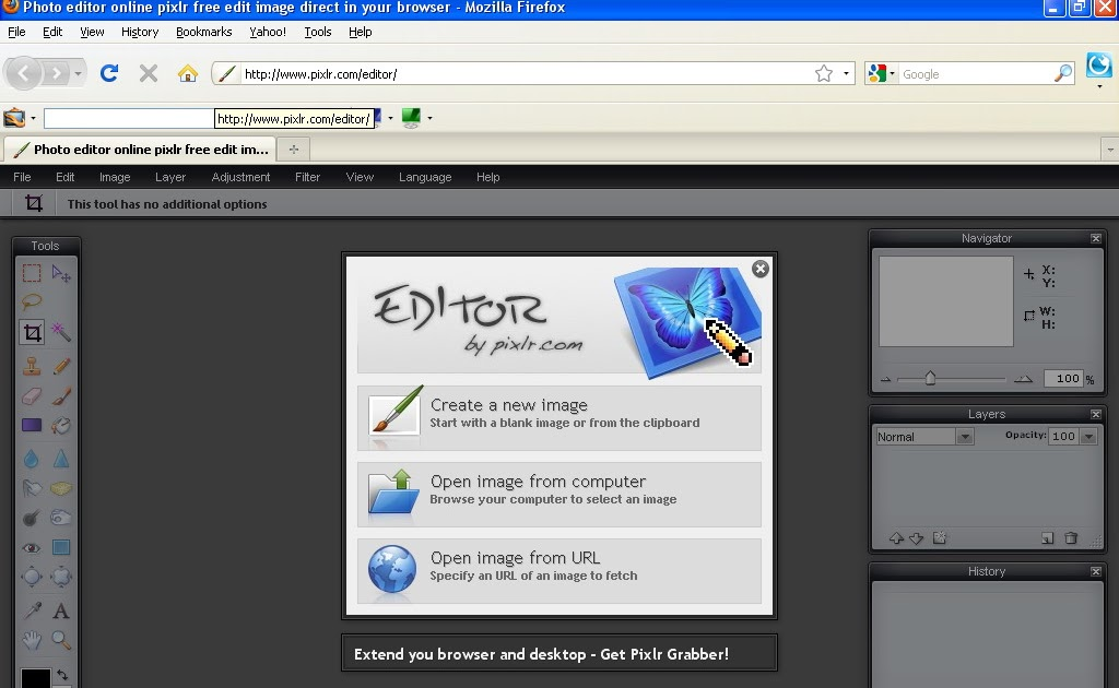 Free Online Based Photo Editor Software Pixlr Editor