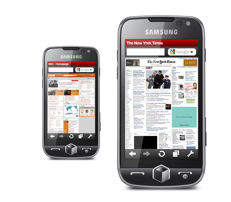 Opera Mobile 10 Final is optimized for both touchscreen and mobile