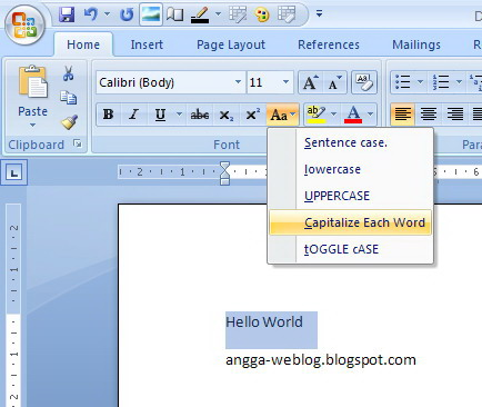 change case in ms word and powerpoint