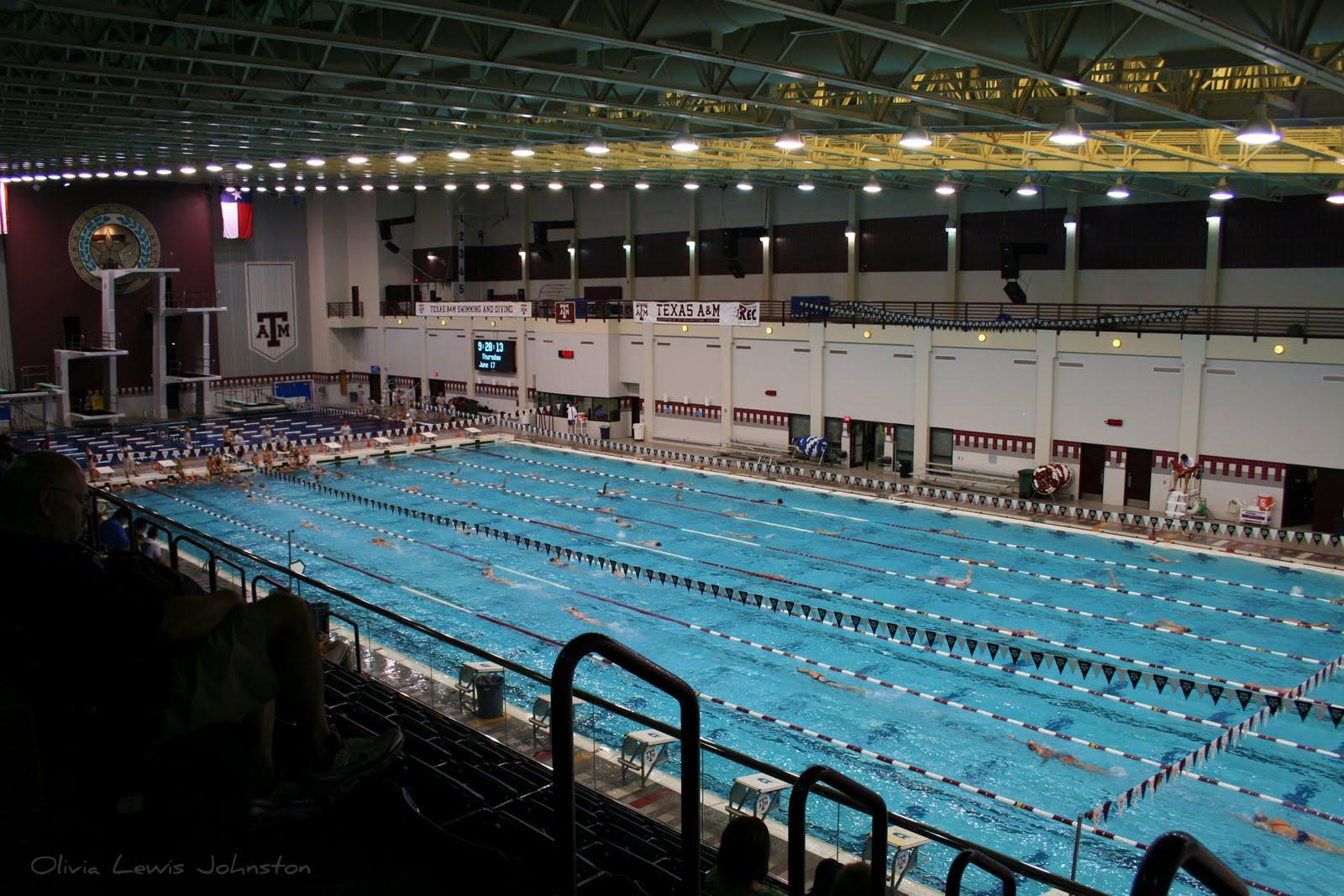 The purple door last day of aggie swim camp for University of texas swimming pool