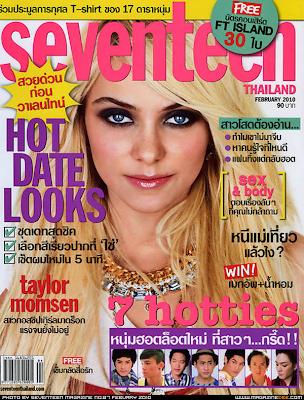Taylor Momsen en la Portada de Seventeen Tailandia (Febrero 2010)