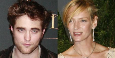 Robert Pattinson comparte cama con Uma Thurman