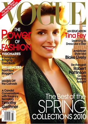 Tina Fey en la portada de Vogue (Marzo 2010)