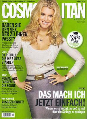 Jessica Simpson en la portada de Cosmopolitan Alemania (Marzo 2010)
