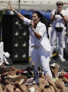 Olga Tañón dice que no se arrepiente de haber cantado en Cuba