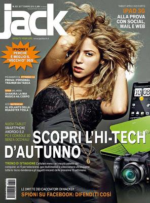 Shakira en la Revista Jack Italy (Septiembre 2010)