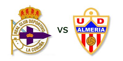Deportivo La Coruña vs Almeria en VIVO