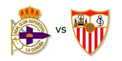 Deportivo La Coruña vs Sevilla FC en VIVO
