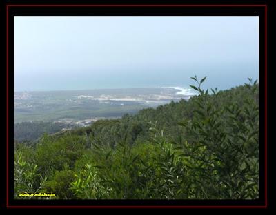 praia do Guincho vista da Serra de Sintra