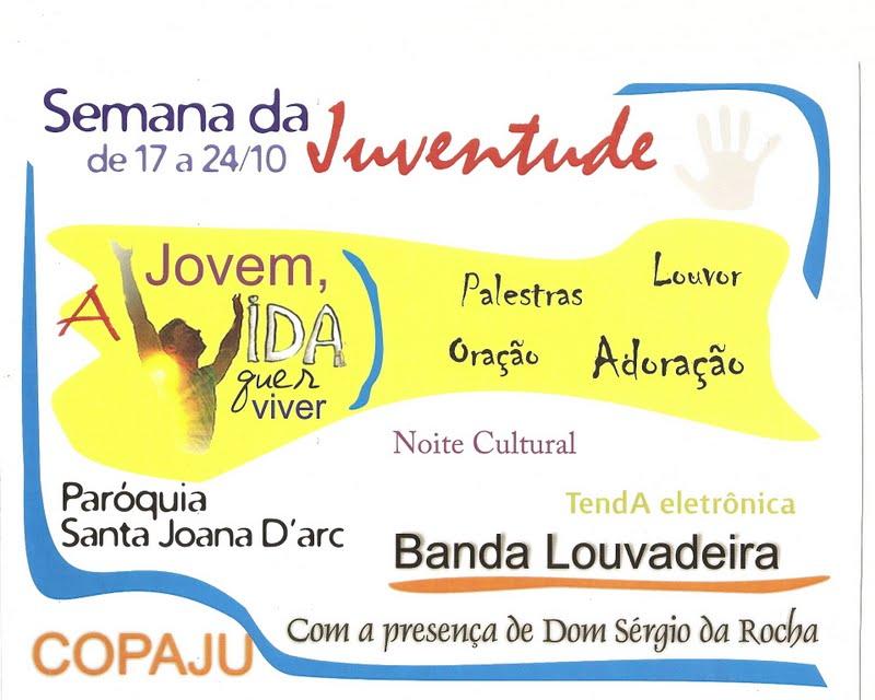Cartaz divulgação Semana Juventude 2010