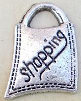 Abalorio metal colgante bolsa shopping