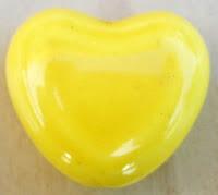 Abalorio porcelana corazón