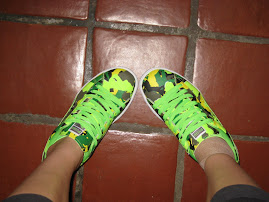 Neon Green Puma Tennis Shoes