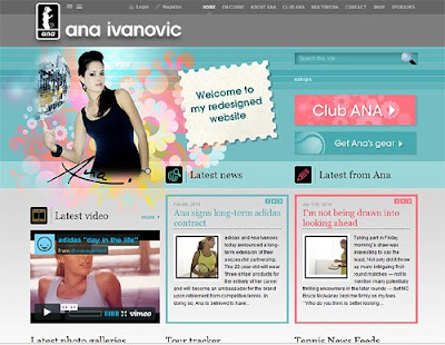 Ana Ivanovic website