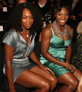 The Williams sisters attended some fashion show in New York to show off some bling