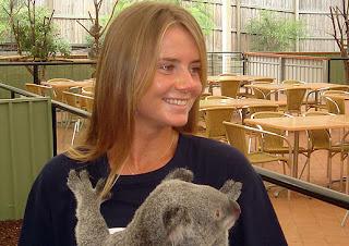 Daniela Hantuchová holds a koala