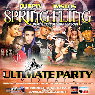 Spring Fling 2010-Death to Cuffing Season The Ultimate Party Mixtape- DJ Spin. This is the Official Party Starter Cd with OVER 30 Tracks for Your Musical Pleasure featuring some New Exclusive Hits as well as The hottest Club Bangers of 2010 Mixed Non-Stop so youll never skip a beat