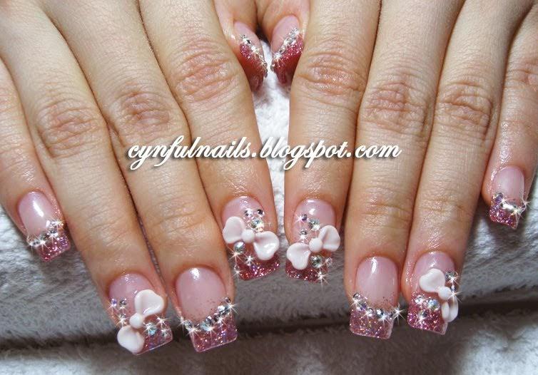 cynful nails pink acrylic nails