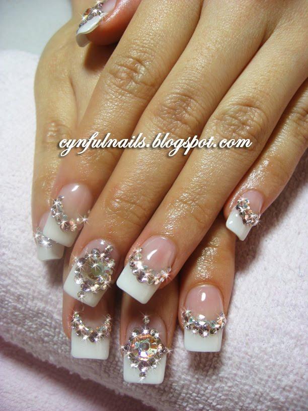 Amazing Crystal Tip Nails Component - Nail Art Ideas - morihati.com