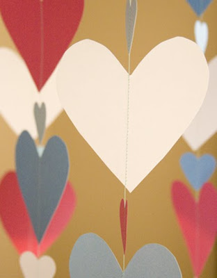 paper heart curtain