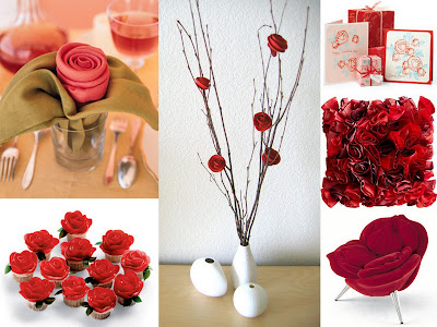 rose decor collage