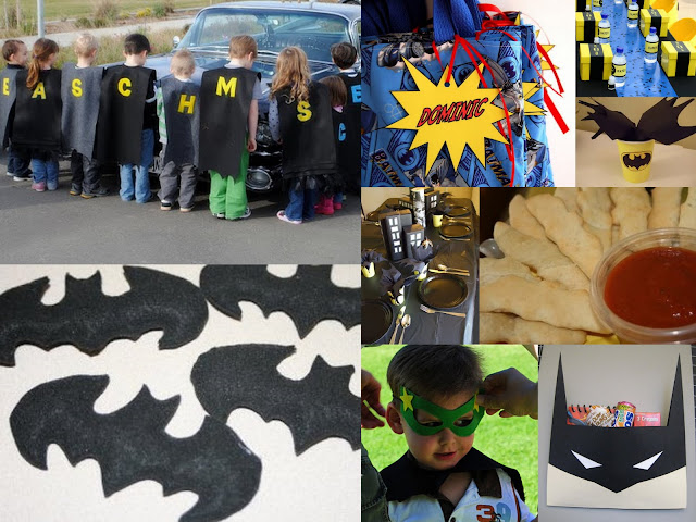 Batman party collage